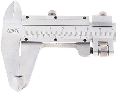 GJNVBDZSF Measuring Tools 9 Inch 200mm X 0.02mm Stainless Manual Vernier Caliper Scale Ruler Mm Metric