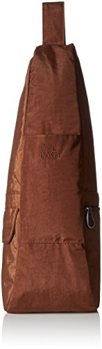 (AmeriBag Small Distressed Nylon Healthy Back Bag, Brown)