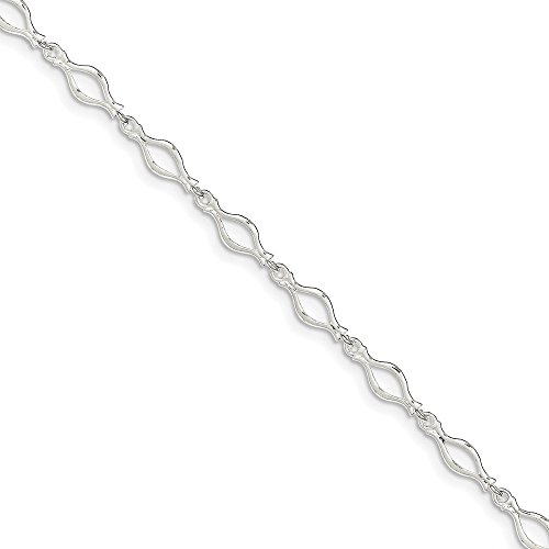 925 Sterling Silver 9 Inch Solid Link Anklet Ankle Beach Chain Bracelet Fine Jewelry Gifts For Women For Her