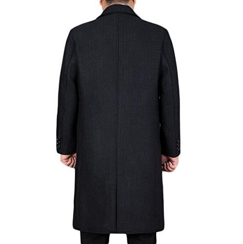 Blu Blu Blu Invernale Giacca Uomo JSHFD JSHFD JSHFD Autunnale e Uomo Cappotto Cappotto Giacca da a da Vento da Navy Uomo Lungo qfZfaxA