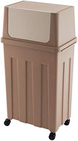 滑らかな表面 キッチンのゴミ箱、プラスチック製の家庭用大容量多機能ごみ箱ホテルリビングルームオフィスのゴミ箱 リサイクル可能なデザイン (Color : Brown, Size : B)
