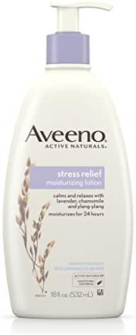 Aveeno Stress Relief Moisturizing Lotion For 24 Hour Moisturization, 18 Fl. Oz (Pack of 3)