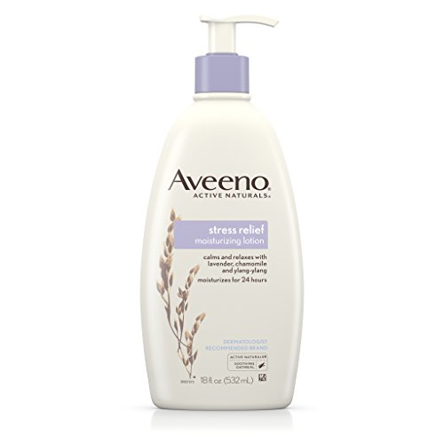 Aveeno Body Moisture Stress Relief Moisturizing Lotion, 18