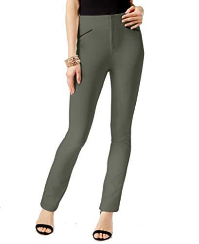 (INC International Concepts Petite Straight-Leg Pants (Dark Rain, 2P))