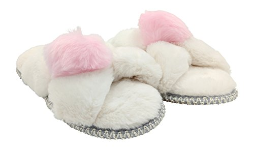 with Pile Slipper X Dearfoams Women's Band Pom Muslin Slide fqxPXywHt