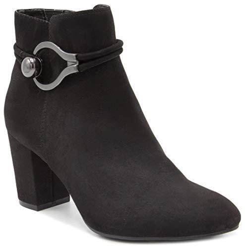 (London Fog Womens Ivan Ankle Boot Black)
