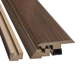 (Traditional Living 4 in 1 Flooring Transition Molding - Dark Walnut - 39-3/8 Inches)