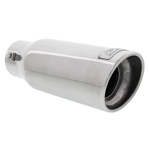 DC Sports EX-1014 Resonated High Performance Exhaust Tip - Polished Stainless Steel
