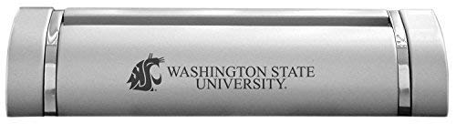 LXG, Inc. Washington State University-Desk Business Card Holder -Silver