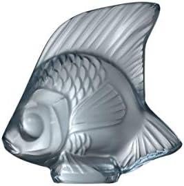Lalique Crystal Persepolis Blue Fish Sculpture
