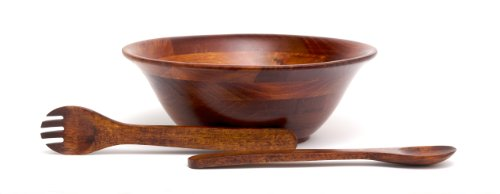 Lipper International (264-3) Flared/Footed Bowl Set with Servers, (Quot Dark Cherry)