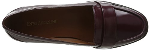 Women's Leather Brown Loafer On Slip Angiolini Cinjin Enzo Dark 1Caqv1