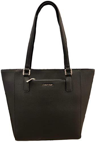Calvin Klein Zip front pocket Tote, Black