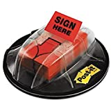 * High Volume Flag Dispenser, ''Sign Here'', Red, 200 Flags/Dispenser