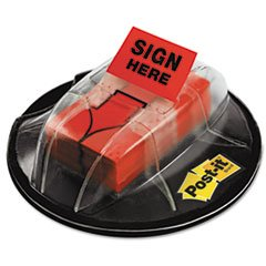 ** High Volume Flag Dispenser, ''Sign Here'', Red, 200 Flags/Dispenser **