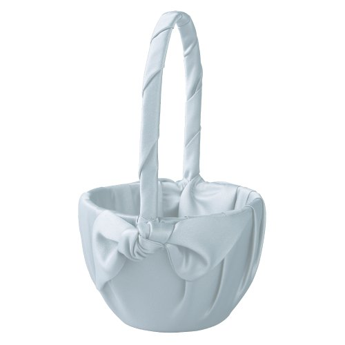 Light Love Knot - Ivy Lane Design Love Knot Flower Girl Basket, Light Blue