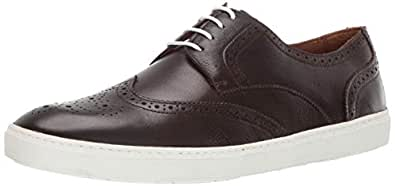Driver Club USA Mens Mens Genuine Leather Made in Brazil Princeton Wingtip Laceup Sneaker Brown Size: 7