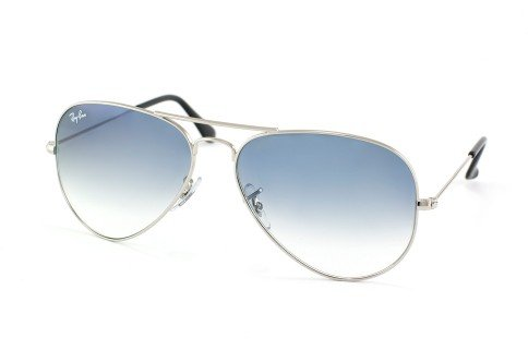 Ray-Ban Women's Etched Retro Aviator Sunglasses, Shiny Silver/Blue, One - Aviators Case Hard Ban For Ray