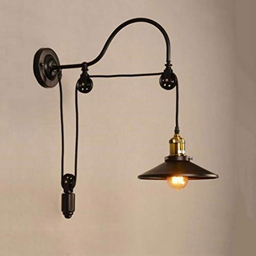 Wall Lamp Aisle Lamp Wall Light Bed Suitable for Living Room Dining Room Study Room Bedroom Corridor Balcony Stairs Path Hotel Restaurant Cafe Bar Library, Black by KUANDAR Light (Image #7)
