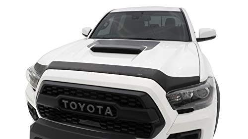 Auto Ventshade 377079 Aeroskin Matte Black Flush Mount Hood Protector for 2016-2018 Toyota Tacoma