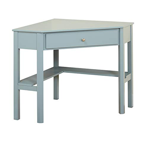 (TMS 84007BLU Ellen Modern 1 Drawer Corner Desk, 42