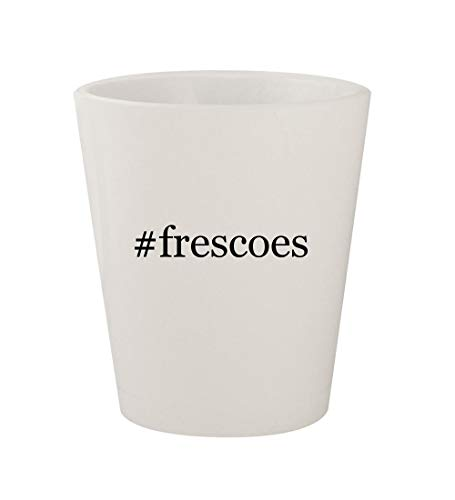 #frescoes - Ceramic White Hashtag 1.5oz Shot Glass