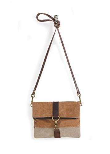 Finley Fold-Over Crossbody Handbag (Dijon) - Fold Over Leather
