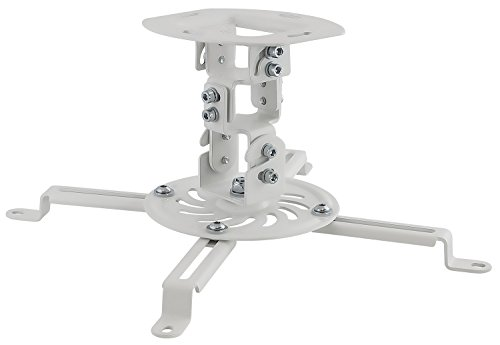 Single Pedestal Roll - Mount-It! Ceiling Projector Mount Height Adjustable Universal Stand Fits Epson Optoma Benq Viewsonic Projectors, 30 Lbs Capacity (Short)