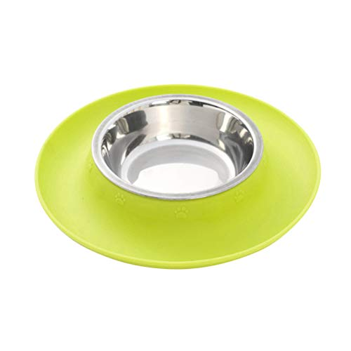 POPETPOP Pet Food Bowl with Non-Skid Silicone Mat Pet Puppy Cat Water Bowl Food Feeder