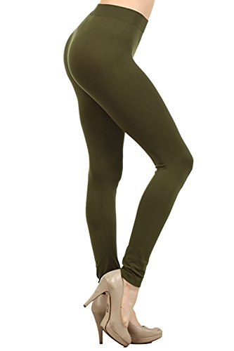 - NeonNation Colored Seamless Leggings Athletic Pants Costume Party Tights (Army Green)