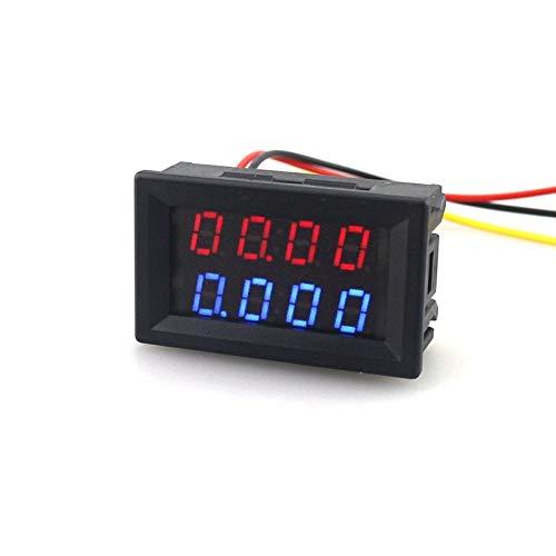 2 unids DC volt/ímetro amper/ímetro Azul 100 V 10A LED rojo volt/ímetro digital doble amplificador calibre LED red digital voltmeter double amplifier caliber 2pcs DC voltmeter ammeter Blue 100V 10A