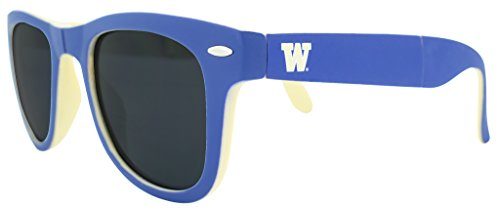 NCAA Washington Huskies Game Day Sunglasses with Microfiber Carrying Case/Pouch - Fully - U Size Sunglasses