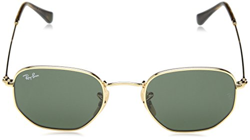Ray-Ban METAL MAN SUNGLASS - GOLD Frame GREEN Lenses 48mm Non-Polarized