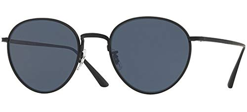 Oliver Peoples The Row Women's Brownstone 2 Sunglasses, Matte Black/Blue, One ()