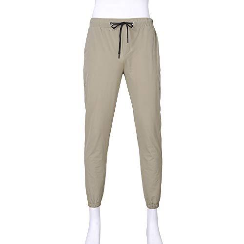 Matita Pantaloni wqianghzi Elegante Jogger Casuale Pantalonea Uomini Ginnastica Alla Larghi Uomo Sportivi Beige Pants Coulisse Caviglia Con Sportwear ZxYxwqI