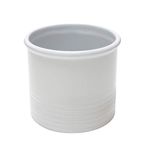 Chantal White Ceramic Large Utensil Crock