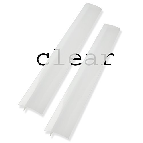 Silicone Stove Counter Gap Covers - Clear/Translucent (2 - Range Kleen Gap