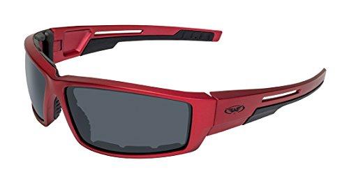 Global Vision Eyewear Sly RED MET SM Sly Motorcycle Sunglasses, Smoke Lens, Metallic Frame, -