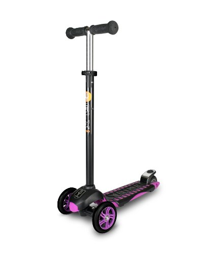 YBIKE GLX Pro Scooter, Black/Purple, 12cm