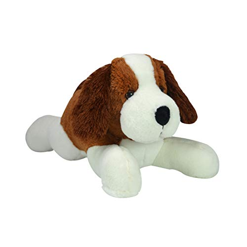 Ultra Cute Laying Dog Plush Stuffed Animal Soft Toy for Kids 17 Inch Brown/White