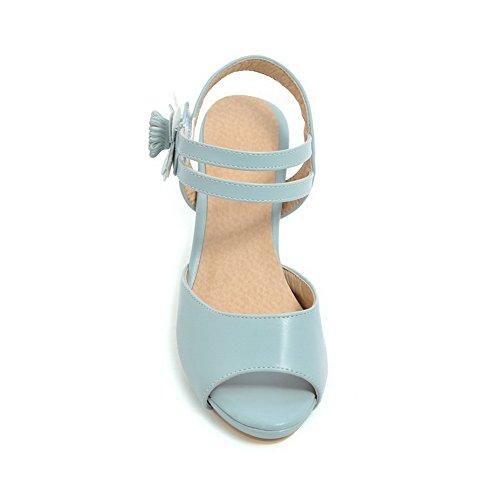Femme Bout Bleu Ouvert AdeeSu SLC04027 zqS4xCpxw