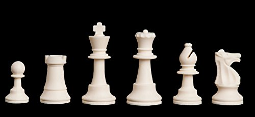 Regulation Silicone (Rubber) Tournament Chess Set - Pieces Only - 3.75'' King - by US Chess Federation by The House of Staunton