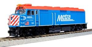 Kato USA Model Train Products 160 EMD F40PH Chicago Metra Village of Winfield Locomotive -