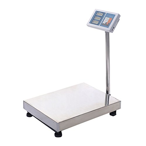 660LBS Digital Floor Platform Scale Weight Computing Rein...