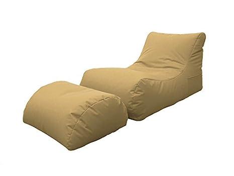 Avalli poltrona pouf chaise longue con poggiapiedi in poliestere