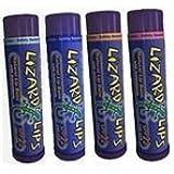 Lizard Lips SPF 22 Lip Balm - 4 Flavor Variety 4 Pack