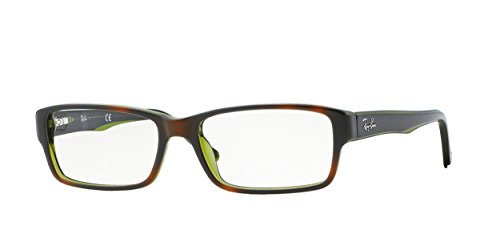 Ray-Ban RX5169 Eyeglasses Top Havana on Green Trans 52mm - Ban Havana Prescription Glasses Ray