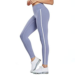 Aoxjox Women's High Waisted Leggings Tummy Control Yoga Pants (Haze Blue, Small)