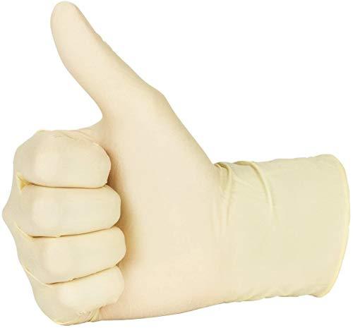New Disposable Latex Gloves, Powder Free (100 Gloves Per Box) (Medium)