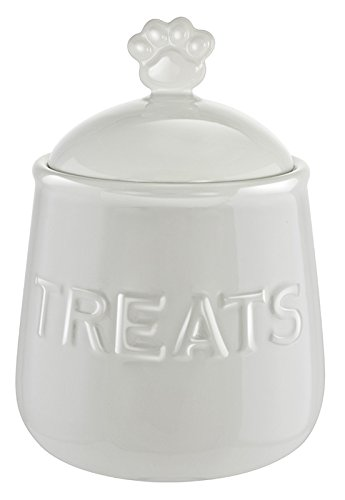 (Kovot Pet Snack or Treats Jar - Ceramic Treats Jar with Airtight Lid)